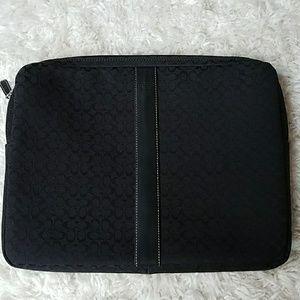 Black Coach Signature Laptop Cover/Case